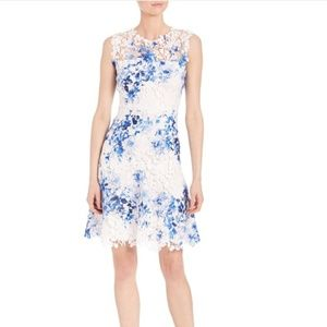 White and Blue Kaisa Night Out Dress